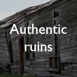 Authentic ruins