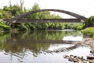 Concrete bridge over the River Irwell, Stoneclough, Bolton