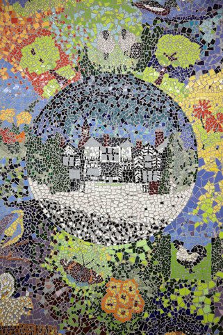 Community mosaic, Asda, Civic Centre, Wythenshawe