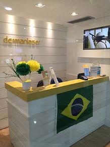 Escritório da Dermanlaser depilação a laser em Niterói, no Shopping Icaraí