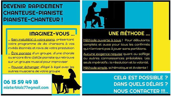 Cours piano chant