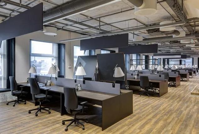 Modern industrial design open plan commerical office