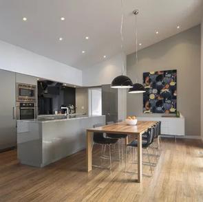 Beautiful open plan modern kitchen diner