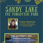 Zoom Talk Thursday Oct 7 at 7 PM: Sandy Lake - The Forgotten Park