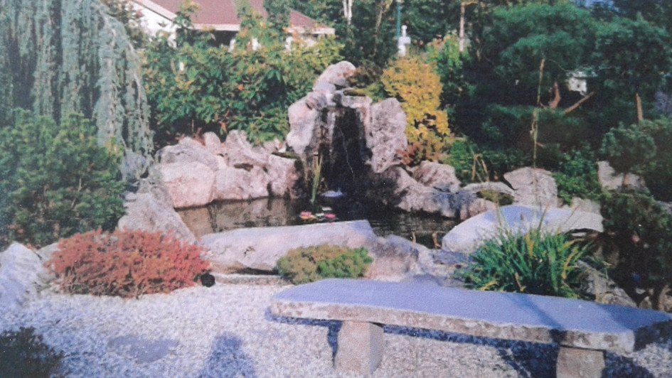 Pond and waterfall project in Westwood Plateau
