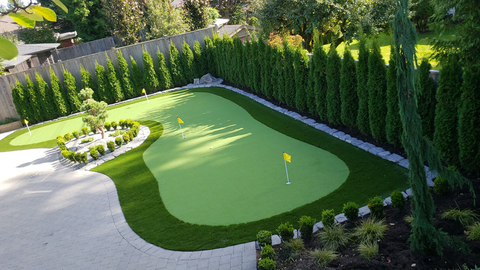 Golf putting green in North Vancouver