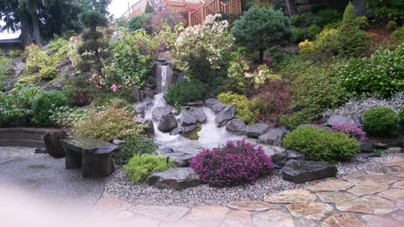 Water fall pond project in West Vancouver