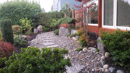 Residential landscaping project in Vancouver West