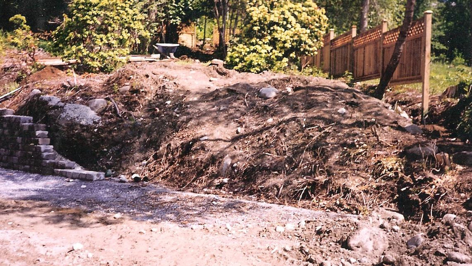 Waterfall and pond project in West Vancouver
