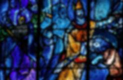Vitrail de Marc Chagall - Chapelle d'axe de la Cathédrale de Reims
