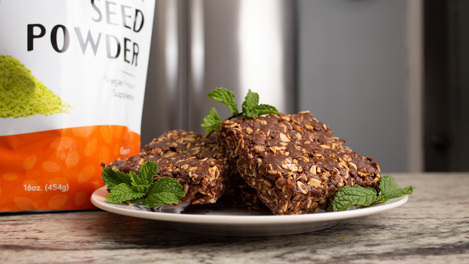 Healthy Chocolate Mint Protein Bars!