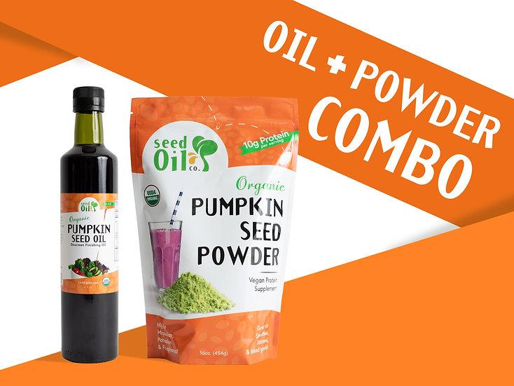 (NEW!) Pumpkin Seed Oil + Pumpkin Seed Protein Powder