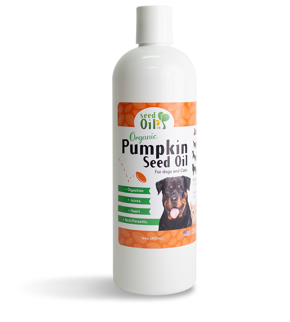 Organic Cold pressed pumpkin seed oil for pets