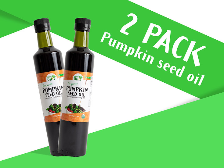 (NEW!) 2 pack 16oz. Organic Cold-pressed Pumpkin Seed Oil