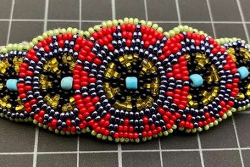 Mayan Beaded Circles Barrette
