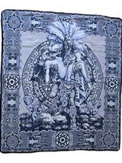 Mayan Sacrifice Scene Blanket