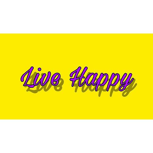 Live Happy Sticker - 2'' x 3''