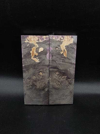 Loupe d'érable stabilisée et teintée