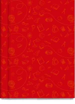 Cuaderno Tapa Dura Rayado Rojo Cromitos