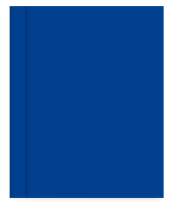 Cuaderno Tapa Dura Rayado Azul Liso