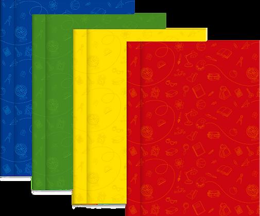 PROMO 4 Cuadernos Tapa Dura Rayados Cromitos