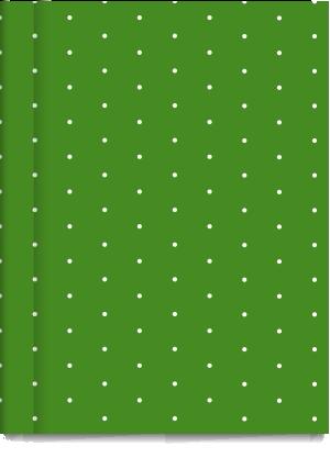 Cuaderno Tapa Dura Rayado Verde Pintitas