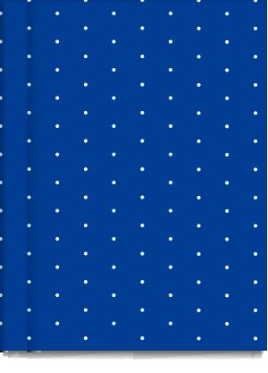 Cuaderno Tapa Dura Rayado Azul Pintitas