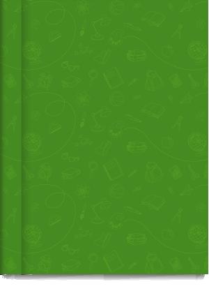 Cuaderno Tapa Dura Rayado Verde Cromitos