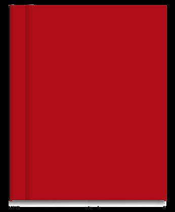 Cuaderno Tapa Dura Rayado Rojo Liso
