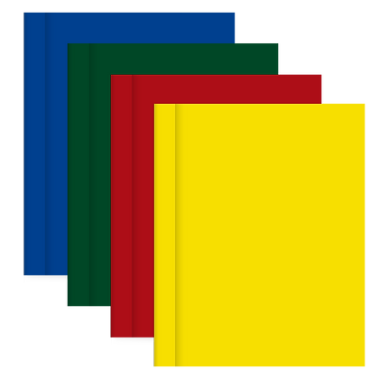 PROMO 25 Cuadernos Tapa Dura Rayados Lisos
