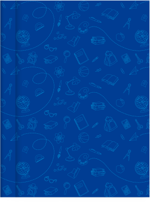Cuaderno Tapa Dura Rayado Azul Cromitos