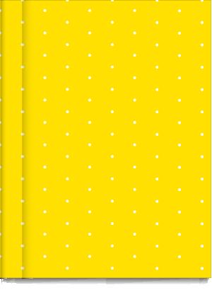 Cuaderno Tapa Dura Rayado Amarillo Pintitas