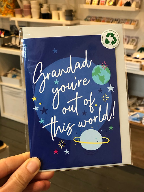 Grandad you're out of this world Card