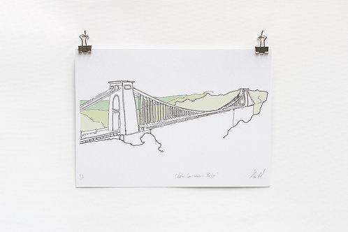 Suspension Bridge Digital A4 Print