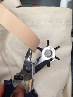 Attaching the Leather Straps