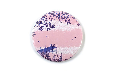 Lake Sunset Pocket Mirror