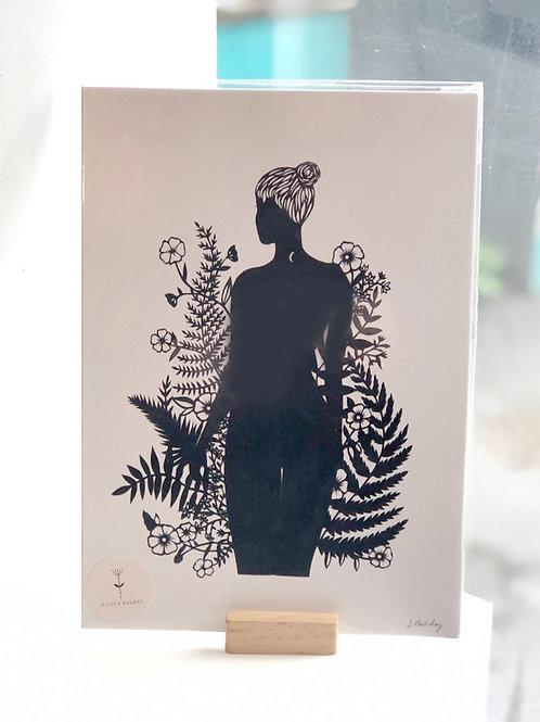 Woman Standing Print