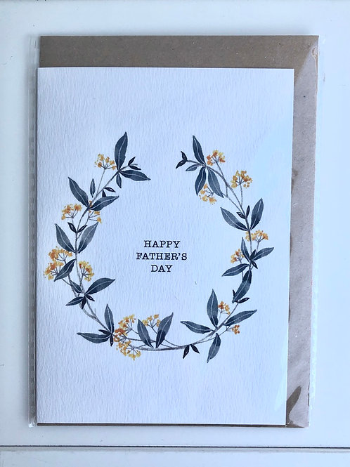 Happy Father's Day Garland Card