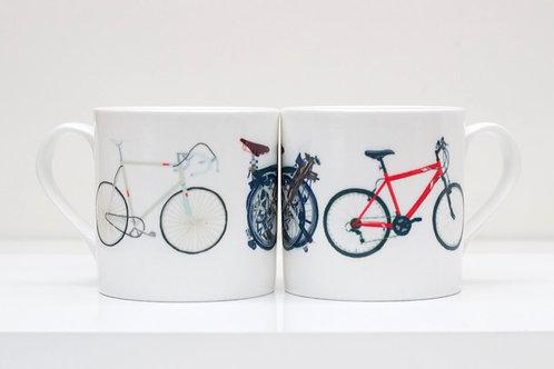 Three Bikes Bone China Mug