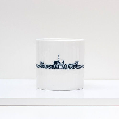 Dazzle Ship Bone China Mug