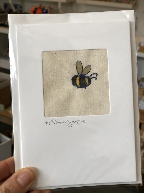 Embroidered Card - Bee