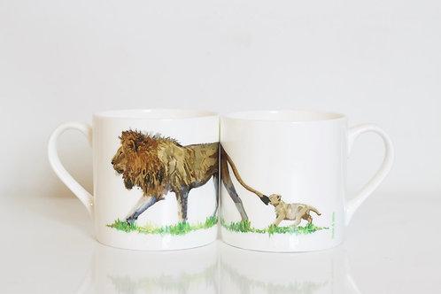 Lion Bone China Mug