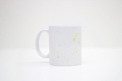 Yellow Splat Ceramic Mug