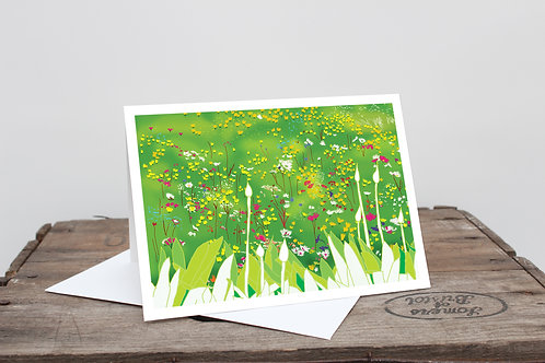 Spring Garden Greetings Card