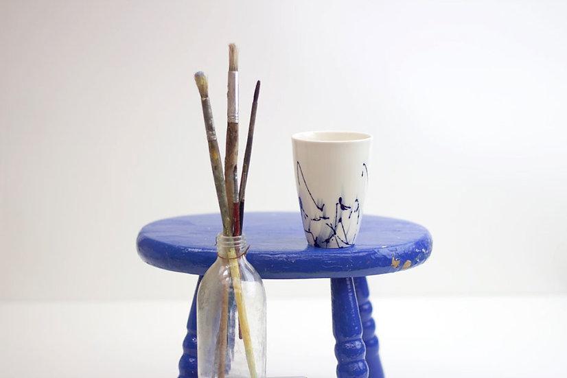 Cobalt Blue Porcelain Beaker