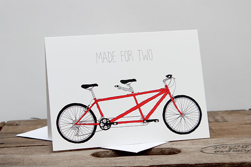 Made for two, tandem Card
