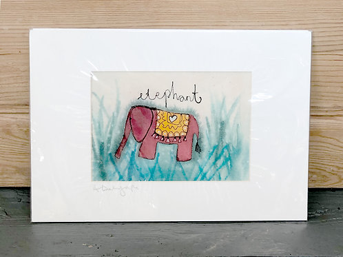 Embroidered & hand painted Elephant