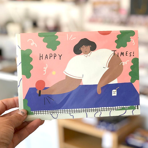 Pink Pong Happy Times card