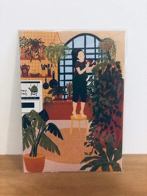 Plant Kitchen  Print - A4