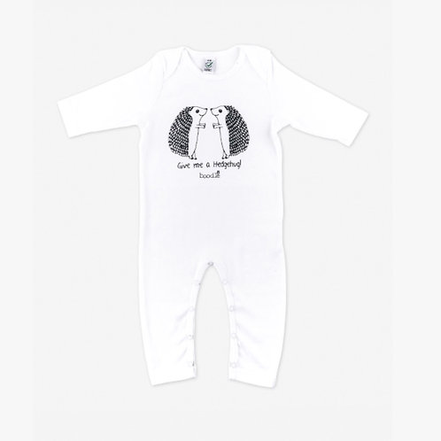 'Give me a hedgehug' baby grow